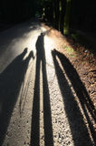Shadow Selfie stock photography