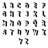 Shadow of  set english alphabet.  Royalty Free Stock Image