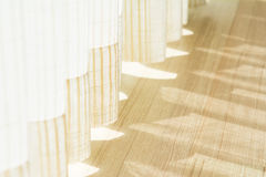 Shadow from shining through a door and the curtains Royalty Free Stock Image