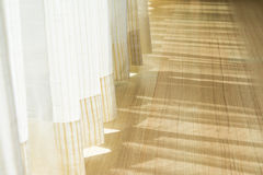 Shadow from shining through a door and the curtains Royalty Free Stock Photography