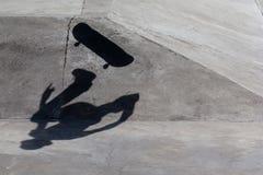 Shadow Skateboarder Stock Photography