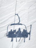 Shadow of ski lift Stock Images