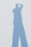 Shadow on Snow Stock Photos