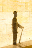 Shadow of a soldier Stock Images