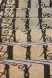 Shadow on the steps. Shadow of banisters on the steps Stock Photography