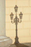 The shadow of street light in front of Bolshoy Theatre Stock Photo