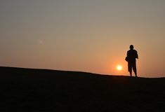 The Shadow of Sunrise Stock Photography