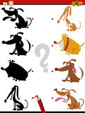 Shadow task with dogs for kids royalty free illustration