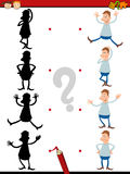 Shadow task for preschoolers Royalty Free Stock Photo