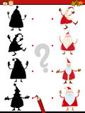 Shadow task with santa claus Royalty Free Stock Photography