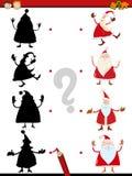 Shadow task with santa claus stock illustration