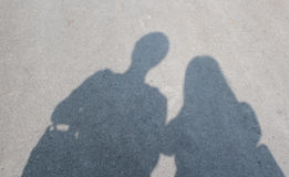 Shadow of Teenager Couple Royalty Free Stock Photo
