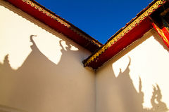 Shadow of temple roof Royalty Free Stock Image