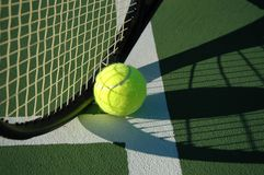 Shadow Tennis Royalty Free Stock Photo