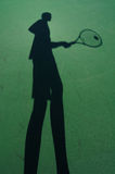 Shadow Of Tennis Player Royalty Free Stock Photography