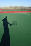Shadow Of Tennis Player Stock Images