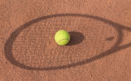 Shadow of a tennis player Stock Image