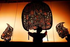 Shadow thailand dance. Ramayana thai performence Stock Photo