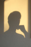 A shadow of thinking man Stock Photography