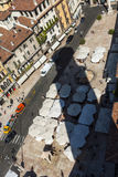 Shadow of the Torre dei Lamberti at Stock Photography