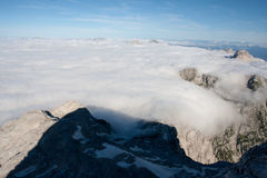 The shadow of Triglav. Shadow of the Julian Alps highest mountain Triglav Royalty Free Stock Photos