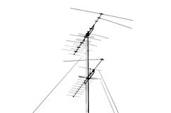 Shadow TV antenna Stock Photos