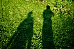 Shadow of two people Stock Image