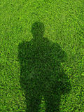 Shadow. In the universe, is small, but the peoples spiritual world is a great, continuous improvement in the human with the surrounding environment stock image