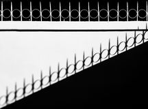 Shadow on wall. Abstract black and white shadow on wall Royalty Free Stock Photo