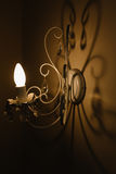 The shadow from wall lamp Stock Photo
