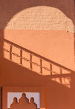 Shadow on the wall in the Marrakech Medina Stock Images