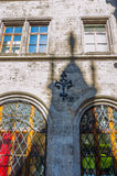 Shadow on a wall of Neus Rathaus Stock Image