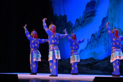 """The shadow warrior- Beijing Opera"""" Women Generals of Yang Family"""". This opera tells a patriotic story how does an old woman of a hundred years old go Stock Photos"""