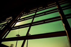 Shadow from window airport louge in Abstract classic style Royalty Free Stock Images