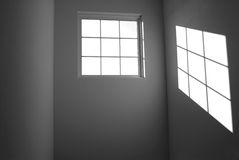 Shadow of a window on wall Stock Photography