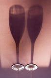 Shadow wineglasses Stock Photography