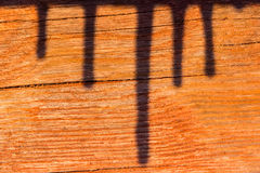 Shadow in wood Stock Image