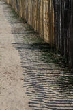 Shadow of wooden fence Royalty Free Stock Images