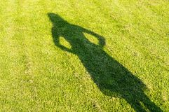The shadow of a young girl Royalty Free Stock Photo
