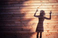 The shadow of a young woman Royalty Free Stock Photography