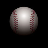 Shadowed Baseball Illustration. An illustration of a realistic baseball set in shadows. Room for copy. Vector EPS file available. EPS contains transparencies and Royalty Free Stock Photos