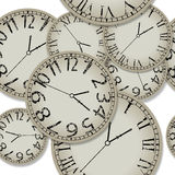 Shadowed clocks pattern. Abstract seamless texture, vector art illustration, image contains transparency Stock Photos