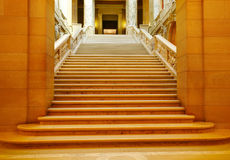 Shadowed marble stairway Royalty Free Stock Photos
