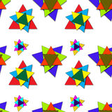 Shadowed triangles pattern Stock Image