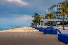 Shadowland auf dem Strand im Fort Lauderdale Stockbild