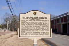 Shadowlawn skola, Memphis, TN arkivbilder