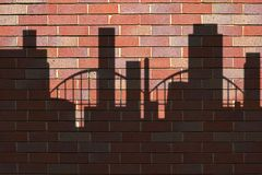 Shadows. Of buildings on wall royalty free illustration