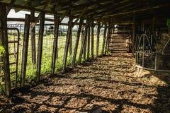 Shadows Across the Floor of a Barn royalty free stock photos