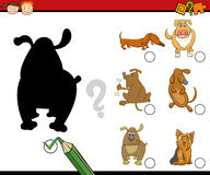 Shadows activity for preschoolers Stock Images