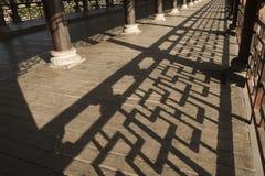 Shadows in ambulatory Royalty Free Stock Image